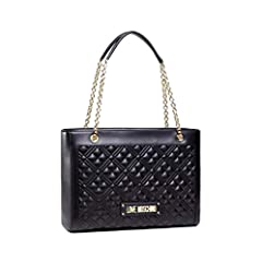 Idea Regalo - Love Moschino Precollezione ss21, Borsa Shopper PU, New Shiny Quilted Donna, Nero, Normal