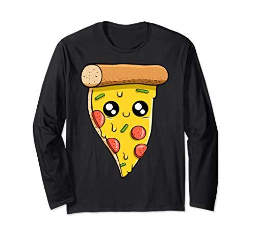 Kawaii Pizza, italienisches Essen, Käseteigwaren Langarmshirt