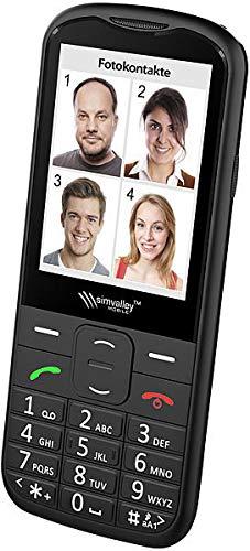 simvalley MOBILE Handy: Komfort-Handy mit Garantruf Premium, Bluetooth und 7,1-cm-Farb-Bildschirm (Rentnerhandy)
