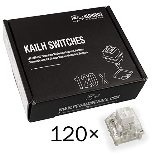 Glorious PC Gaming Race Kailh Box White Switches für GMMK Tastaturen - 120 Stück