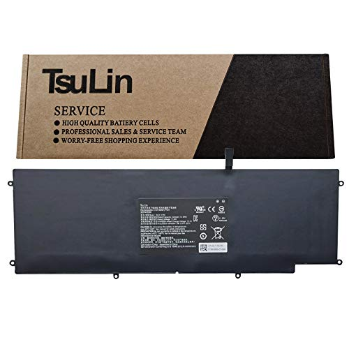 TsuLin RC30-0196 Laptop Battery Compatible with Razer Blade Stealth 2016 V2 RZ09-0239 RZ09-01962E10 RZ09-01962E12 RZ09-01962E20 RZ09-01962E52 RZ09-01962E53 RZ09-01962W10 Series 11.55V 53.6Wh 4640mAh