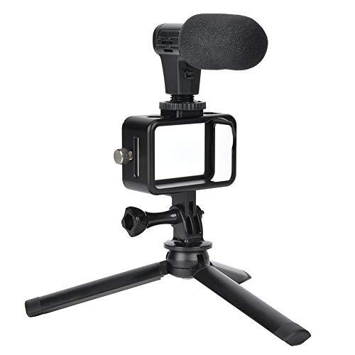 Kit de Accesorios de cámara de acción, para OSMO Action, Que Incluye Marco de cámara, trípode de Escritorio, Cabezales de Adaptador de Audio, micrófono, Cable de conexión de 3,5 mm, etc.