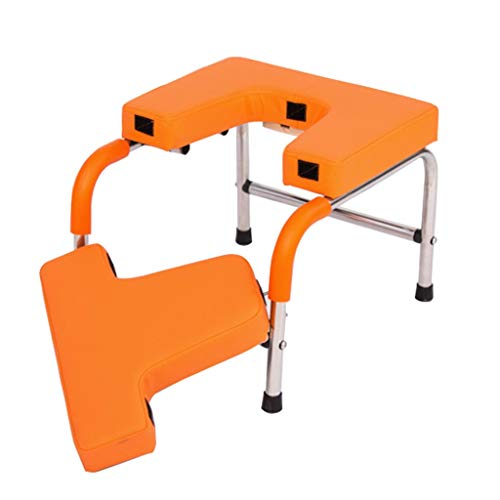Great Deal! VAIY Yoga Stool, Stainless Frame Yoga Assisted Inverted Chair, Yoga Headstand Bench, Fit...