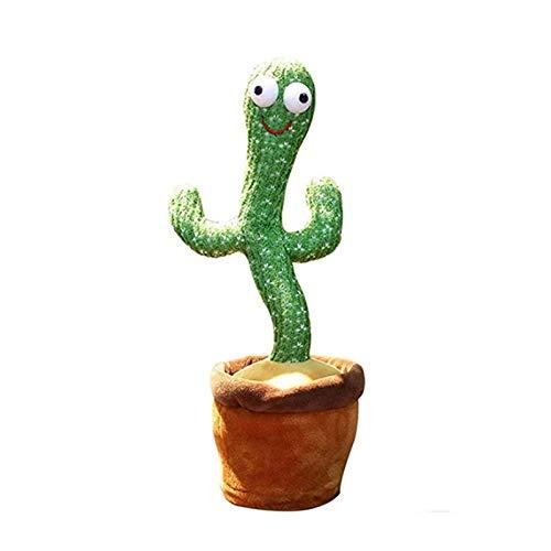 GUANJIAN Cactus Juguetes De Peluche,Cactus De Baile ElectróNico para NiñOs Adultos, Juguetes Educativos para La Primera Infancia, DecoracióN De Fiesta De Felpa A