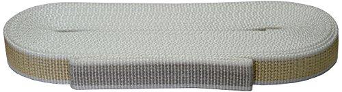 Corderie Italiane 006000020 Cintino per tapparelle, Colore Beige/Grigio, in Polipropilene, 22 mm, 7,5 mt