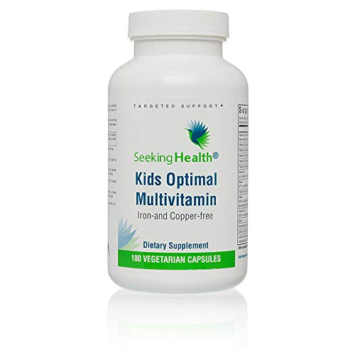 Seeking Health   Kid's Optimal Multivitamin   Potent Nutrients & Bioavailable Vitamins Formulated for Children   Iron-and Copper-Free   Free of Common Allergens   180 Vegetarian Capsules   30 Servings