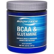 BodyTech BCAA Glutamine Supports Muscle Endurance, Growth Recovery with Essential Amino Acids (7.2 Ounce Powder)