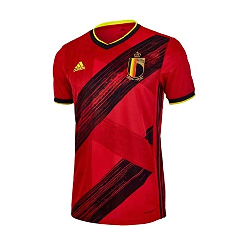 adidas 2020-21 Belgium Home Youth Jersey - Red-Black YL