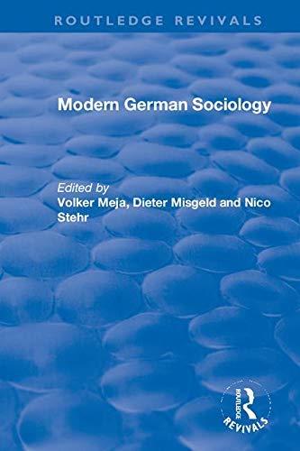 Modern German Sociology (Routledge Revivals) (English Edition)