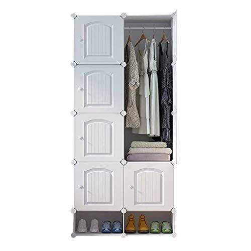 LJP armadio portatile armadio armadio combinazione armadio modulare armadio per risparmiare spazio ideale organizer cubo per libri giocattoli armadio (colore : bianco, dimensioni: C)