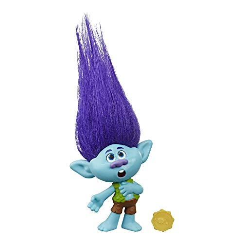 Hasbro DreamWorks Trolls World Tour Branch, Puppe mit Tambourin, Spielzeug zum Film Trolls World Tour