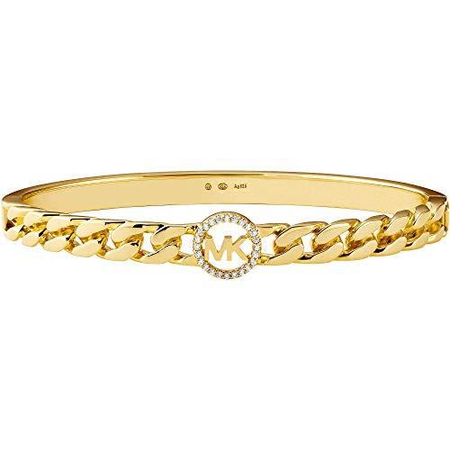 Michael Kors - Pulsera de joyería de primera calidad, tamaño M, tono dorado, plata de ley 925 para mujer MKC1381AN710; METRO.