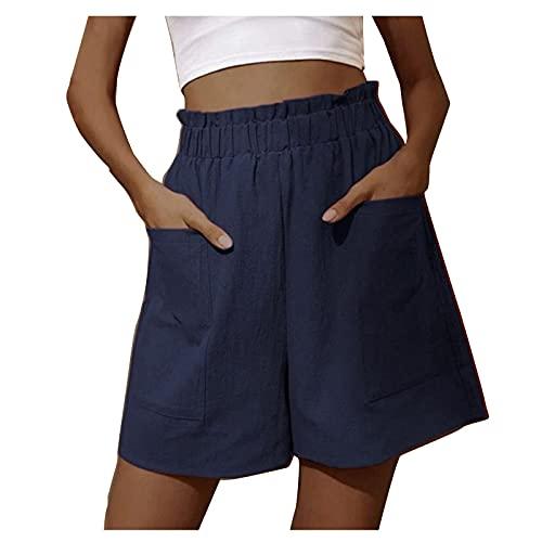 Damen Hose Workout Drawstring Shorts für Frauen Summer Lounge mit Taschen