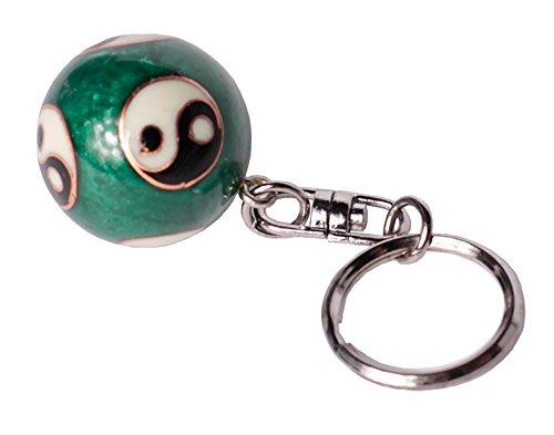 Klangkugel Schlüsselanhänger Langesleben Drachen mini Qi-Gong Kugeln Anhänger