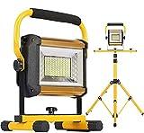 YLJYJ Led floodlight 100W LED Outdoor Flood Lights | Portable Work Light with Tripod IP 65 Waterproof Spotlight For Garden Garage Lighting Security Lights
