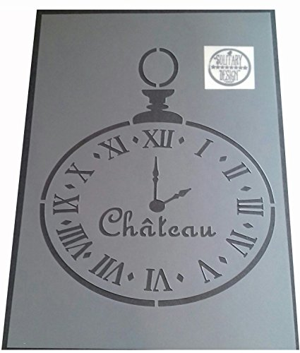 Shabby Chic Schablone Taschenuhr Uhr Rustikal Mylar Vintage A4297x 210mm Chateau Wand Möbel Art
