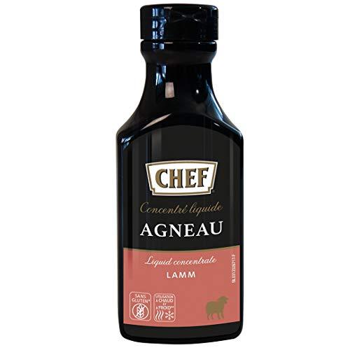 CHEF Flüssiges Konzentrat Lamm, Geschmacksboost für Herzhafte Fleischgerichte, 100% Natürlicher Geschmack, 1er Pack (1 x 200ml)