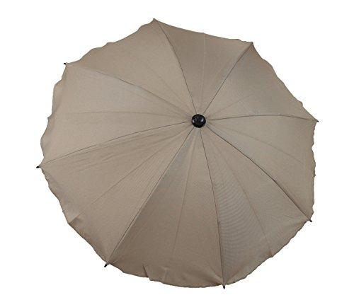 Clamaro 'Caddy' Universal Golfwagen Sonnenschirm Regenschirm (11 Farben), Schirm mit Universal Halterung, Quick Realese Funktion und 2 x 360° flexiblen Schwanenhals Gelenken, Cappuccino 4