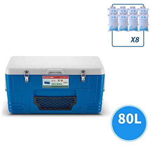 AIAIⓇ 80L réfrigérateur de Voiture, Boisson Alimentaire Pique-Nique Plage Camping Pack de Glace isolé Cool Box-Outdoor Beer Party Cooling Transport Box
