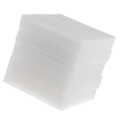 Baoblaze 5er Pack Filzunterlage Schaumstoff Unterlage zum Filzen Filz-Zubehör für Trockenfilzen/Nadelfilzen - Weiß, 15x20mm