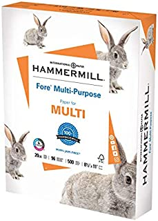 Hammermill Printer Paper, Fore Multipurpose 20 lb Copy Paper, 8.5 x 11 - 1 Ream (500 Sheets) - 96 Bright, Made in the USA