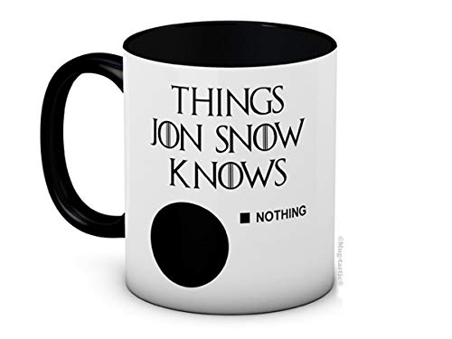 Things Jon Snow Knows (Nothing) - Game of Thrones - Lustig Hochwertige Kaffeetasse Becher