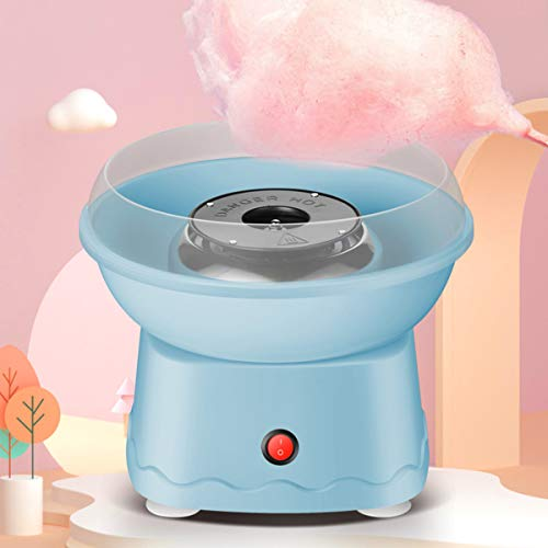LHChan Cotton Candy Machine for Kids Adults,Homemade Mini Cotton Candy Maker with 10 Cones and Sugar Scoop,Kid's Birthday Christmas Gifts for Party (Blue)