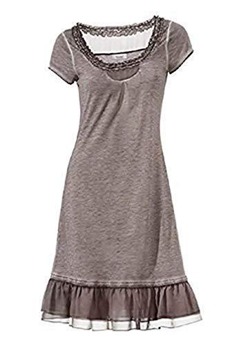 Linea Tesini Kleid Shirtkleid Taupe Gr. 42