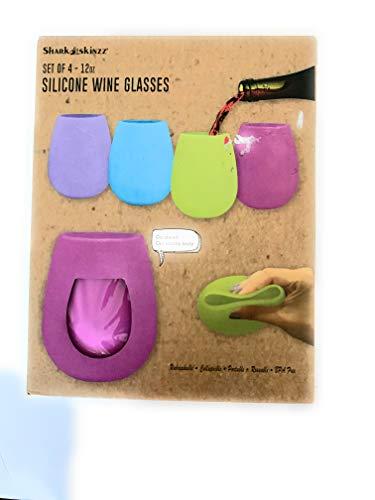 shark skinzz silicone wine glasses