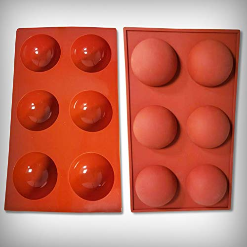 Silicone Molds 6 Holes for Baking Mold chocolate ball mildew Jelly Cake Pudding for Jello Cookies Baking circle molds silicone Half Ball