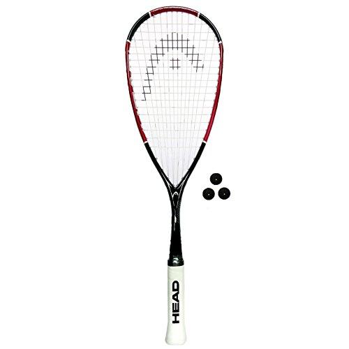 Raqueta de squash HEAD Nano Ti 110 , tamaño Single Racket + 3 Squash Balls