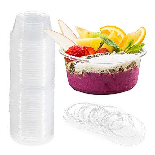 Relaxdays Dessertbecher Plastik, 250er Set, 100ml, Deckel, Desserts, Dips, Saucen, für Partys & Gastronomie, transparent