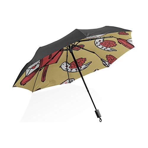 Nette Regenschirm Für Frauen Frühling Romantische Briefkasten Blume Tragbare Kompakte Taschenschirm Anti Uv Schutz Winddicht Outdoor Reise Frauen Einzigartige Regenschirme Für Frauen