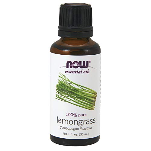 NOW Essential Oils, Lemongrass Oil, Uplifting Aromatherapy Scent, Steam Distilled, 100% Pure,...