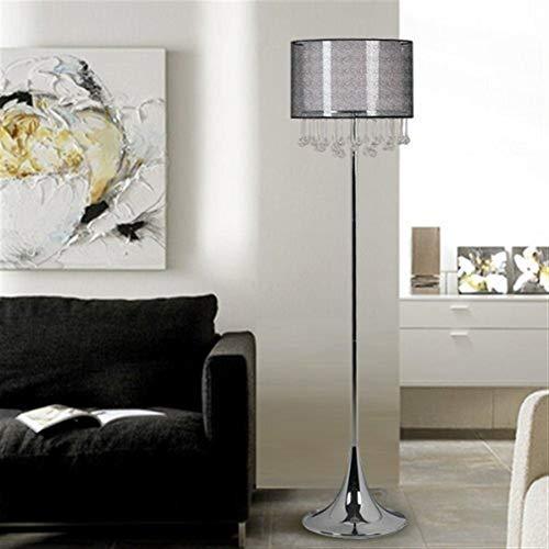 YHtech Piso Led creativa de la sala de estar Dormitorio de noche cristalino de la manera moderna ligera de la lámpara de pie, Eye-Cuidado Vertical luz del piso