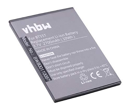 vhbw batteria compatibile con Zopo 3X, ZP998, ZP999, 9530 smartphone cellulare telefono cellulari (2700mAh, 3,8V, Li-Ion)