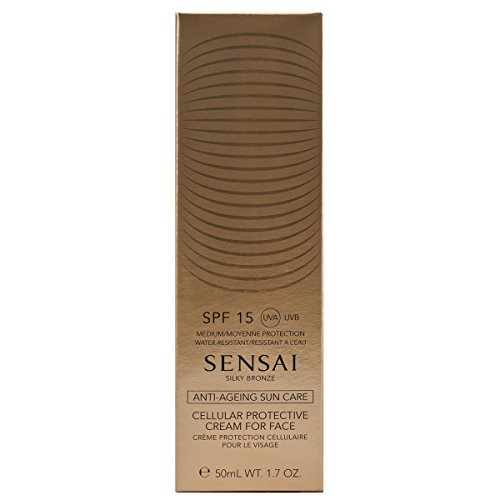 Kanebo Sensai Silky Bronze Cellular Protective Cream for Face SPF15 Bräunungscreme, 50 ml