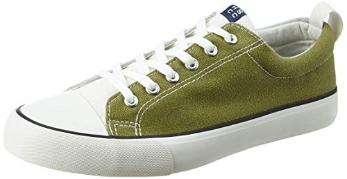 Amazon Brand - House & Shields Men's Olive/Grey Canvas Sneakers-9 UK (AZ-HS-045B)