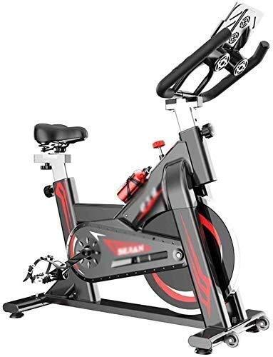 XUSHEN-HU Bicicleta de Exercise, Indoor Cycling la Bicicleta estática con Monitor de sensores de frecuencia cardíaca, Lownoise Profesional Ciclo Indoor Aptitud Ajustable Manillar y Resistencia de los