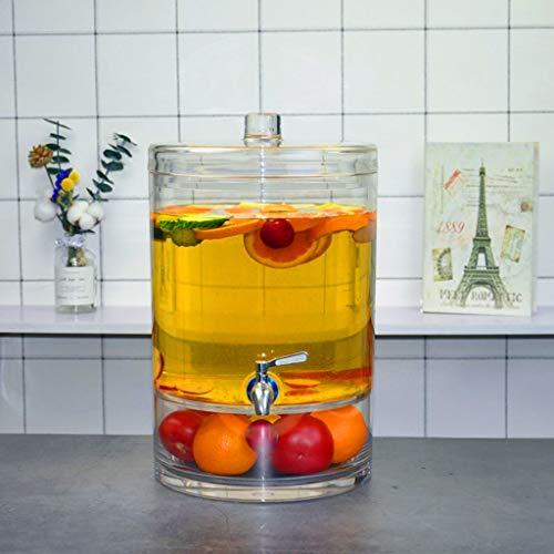 Bucket Yxx@ Dispensador de Jugo dispensador de Bebidas frías y dispensador de Agua Bebidas Drink Dispenser 7L 9L Dispensador de Bebidas con Grifo