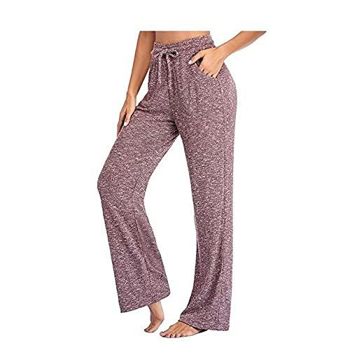 Pantaloni alla Moda Pantaloni da Yoga da Donna Multicolori Pantaloni Casual Pantaloni A Gamba Larga
