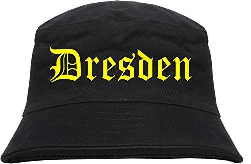 HB_Druck Dresden Fischerhut - Bucket Hat L/XL Schwarz
