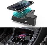TapTes Wireless-Ladegerät für Mercedes-Benz C-Klasse GLC 2016-2020 Mittelkonsolenzubehör Wireless-Telefon-Ladekissenmatte für alle C GLC-Modelle C300 W205, kompatibel mit Allen aktivierten Telefonen