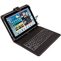 SilverHT -  Funda universal con teclado para tablet de 9
