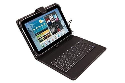 SilverHT - Funda universal con teclado para tablet de 9'' -