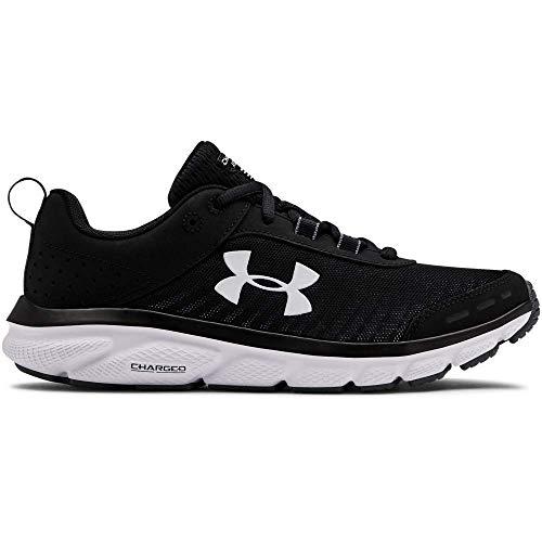 Under Armour Women's Charged Assert 8 Running Shoe, Black (001)/White, 10