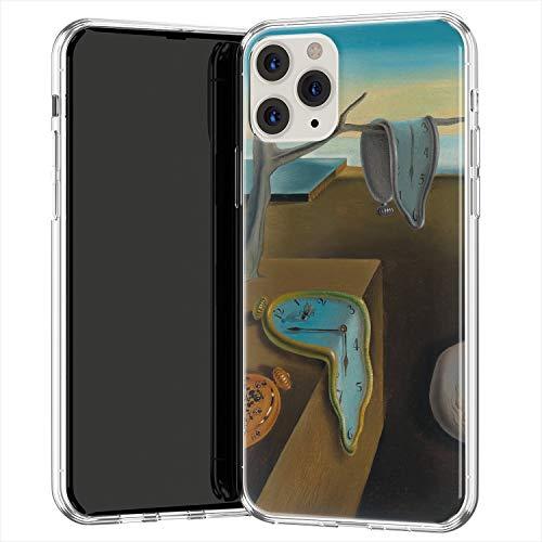 Lex Altern TPU Custodia per Apple iPhone 12 Pro SE 11 Xs Max Xr 8 7 Plus 6 + La persistenza Morbida memoria Salvador Dali Copertina Disegno Leggero Donna Trasparente Arte uk1462