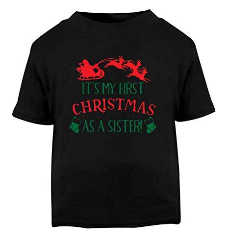 Flox Creative T-Shirt pour bébé First Christmas as a Sister Noir - Noir - 1-2 Ans