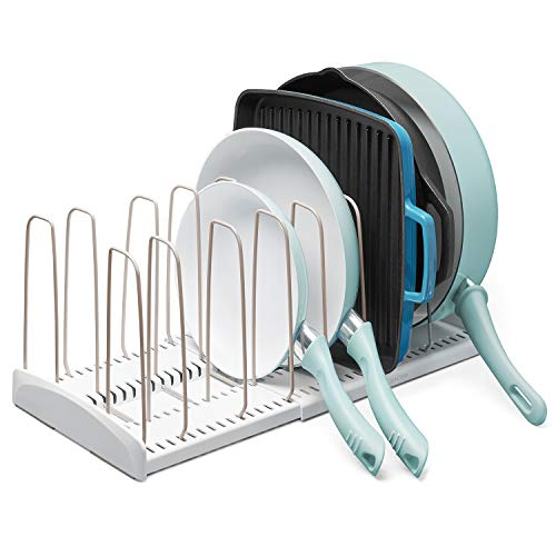 YouCopia StoreMore Rack Expandable Cookware organizer White