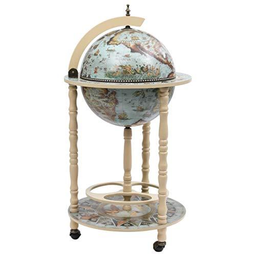 pedkit Minibar, diseño de Globo terráqueo Mueble Bar de Bola del Mundo Madera de eucalipto Azul 2#